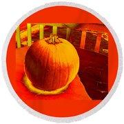 Pumpkin #4 Round Beach Towel