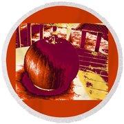 Pumpkin #5 Round Beach Towel