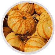 Pumpkin Harvest Round Beach Towel