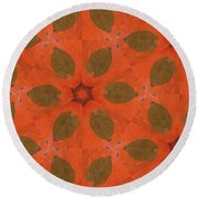 Pumpkin Pie Round Beach Towel by Maria Watt