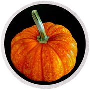 Pumpkin Round Beach Towel