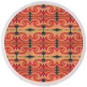 Pumpkin Spice 2- Art By Linda Woods Round Beach Towel by Linda Woods