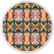 Punk Rock Opera Pattern Round Beach Towel