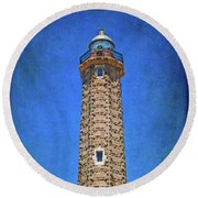 Round Beach Towel featuring the photograph Punto Doncela Lighthouse by Mary Machare