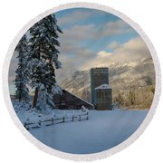 Purcell Barn Round Beach Towel