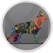 Round Beach Towel featuring the digital art Pure Emotion Gsd by Ania M Milo