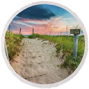 Round Beach Towel featuring the photograph Pure Michigan Sunset by Sebastian Musial