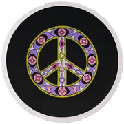 Pure Peace Round Beach Towel by Joseph Sonday