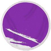 Purple Round Beach Towel