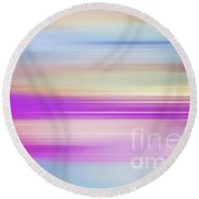 Round Beach Towel featuring the digital art Purple Bliss Sunrise Panorama By Kaye Menner by Kaye Menner