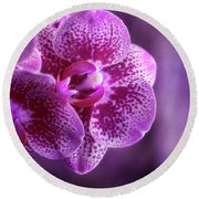 Purple Bunch Round Beach Towel
