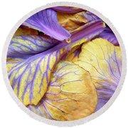 Purple Cabbage Round Beach Towel