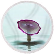 Purple Capped Drop Round Beach Towel