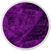 Purple Corridor Round Beach Towel
