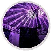 Purple Cosmic Berlin Round Beach Towel