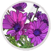 Purple Days Round Beach Towel
