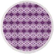 Round Beach Towel featuring the digital art Purple Diamonds by Elizabeth Lock