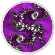 Purple Dragon Round Beach Towel
