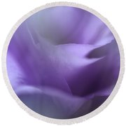 Purple Ethereal Breath Round Beach Towel