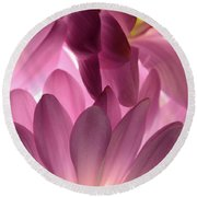 Purple Fantasia Round Beach Towel