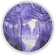 Purple Forest Round Beach Towel