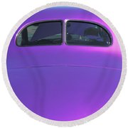 Purple Forty Round Beach Towel