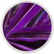 Purple Fronds Round Beach Towel