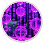 Purple Glass Round Beach Towel