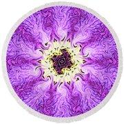 Round Beach Towel featuring the photograph Purple Haze by Kristin Elmquist