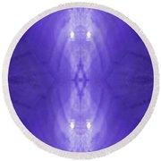 Purple Light Phantom  Round Beach Towel by Rachel Hannah