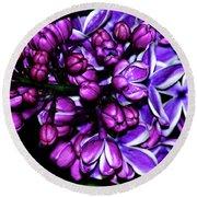 Purple Lilac Round Beach Towel