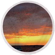 Purple Martin Sunset On Lake Murray Sc Round Beach Towel