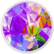 Purple Mix Abstract Round Beach Towel