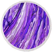 Purple Passion Round Beach Towel by ABeautifulSky Photography