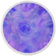 Purple Passion By Sherriofpalmspringsflower Art-digital Painting  Photography Enhancements Tradition Round Beach Towel