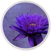Round Beach Towel featuring the photograph Purple Passion by Judy Vincent