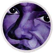 Purple Reign Round Beach Towel