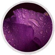 Purple Showy Prairie Gertain Round Beach Towel by Garry McMichael