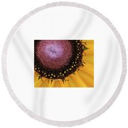 Purple Spirals Round Beach Towel