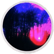 Round Beach Towel featuring the photograph Purple Sunset by Craig J Satterlee