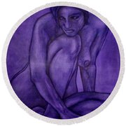 Purple Round Beach Towel