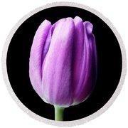 Purple Tulip Round Beach Towel