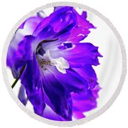 Purpled Round Beach Towel