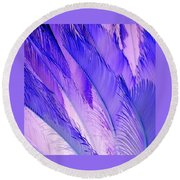 Purple Hues Round Beach Towel