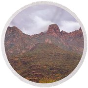 Pusch Ridge Tucson Arizona Round Beach Towel