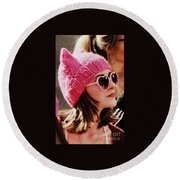 Pussycat Round Beach Towel