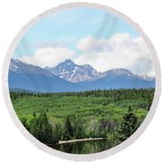 Pyramid Island - Jasper Ab. Round Beach Towel by Ryan Crouse
