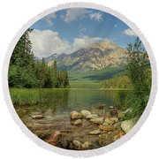 Pyramid Mountain Round Beach Towel