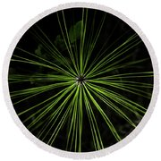 Pyrotechnics Or Pine Needles Round Beach Towel