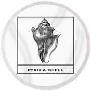 Pyrula Shell Round Beach Towel